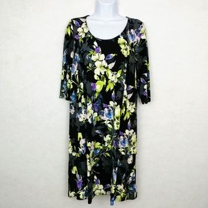 J Jill Wearever Collection Floral Dress Size Med